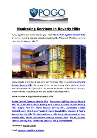 Monitoring Services In Beverly Hills