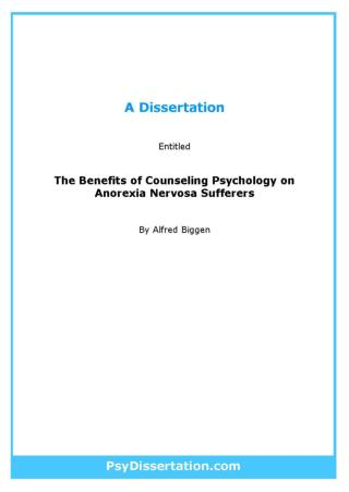 Counseling Psychology Dissertation Example
