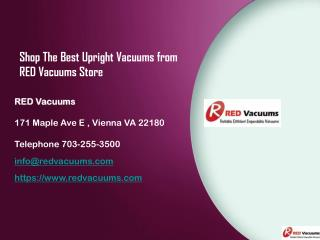 Shop The Best Upright Vacuums from RED Vacuums Store