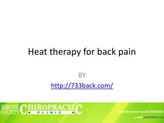 Heat therapy for back pain