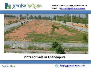 Plots For Sale in Chandapura