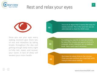 Rest and relax your eyes