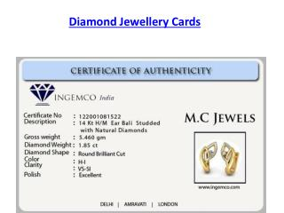 Diamond Jewellery Cards