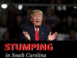 Stumping in South Carolina
