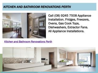 Kitchen and Bathroom Renovations Perth