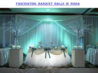 Fascinating banquet halls in Noida