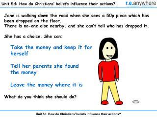 Unit 5d: How do Christians' beliefs influence their actions?