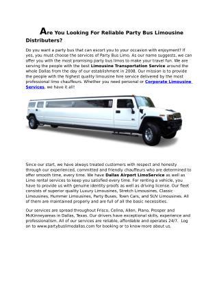 Dallas Limousine Services