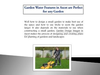 Garden Water Features in Ascot are Perfect for any Garden