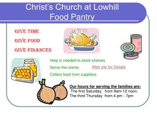 Christ's Church at Lowhill Food Pantry