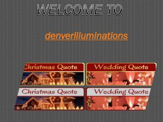 commercial christmas light installers denver