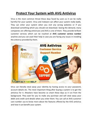 Protect Your System with AVG Antivirus