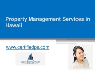 Best Property Management Services in Hawaii - www.certifiedps.com