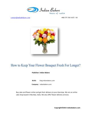 How to Keep Your Flower Bouquet Fresh for Longer?