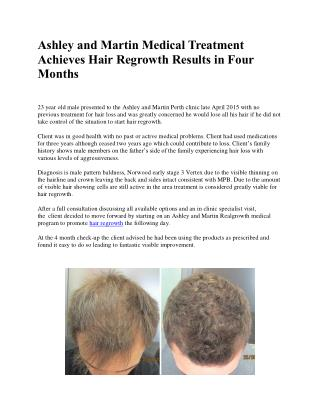 Ashley and Martin Medical Treatment Achieves Hair Regrowth Results in Four Months