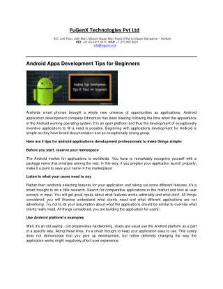 Mobile apps development Edmonton