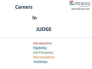 Careers In JUDGE