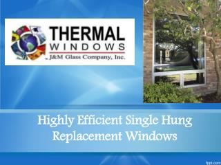 Highly Efficient Single Hung Replacement Windows