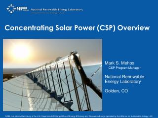 Concentrating Solar Power (CSP) Overview