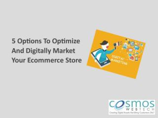 5 Options to Optimize and Digitally Market Your Ecommerce Store