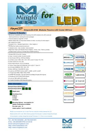 SimpoLED-8180 Modular Passive LED Star Heat Sink