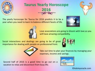 Taurus Love Horoscope | Free Yearly Horoscope 2016