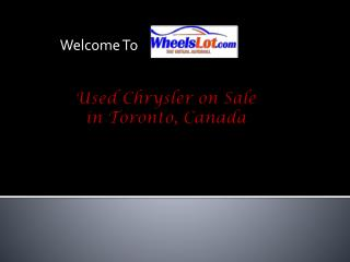 Used Chrysler on Sale in Toronto