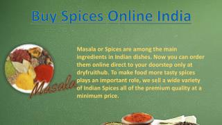 Buy spices online India