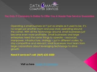 Best Dallas IT Support Company- Datamagic Inc.