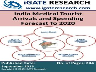 India Medical Tourist Arrivals and Spending Forecast