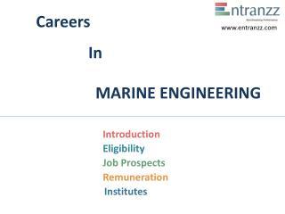 Careers In MARINE ENGINEERING