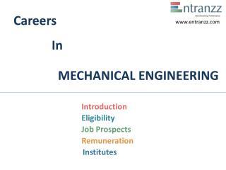 Careers In MECHANICAL ENGINEERING