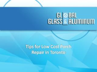Tips for Low Cost Porch Repair in Toronto