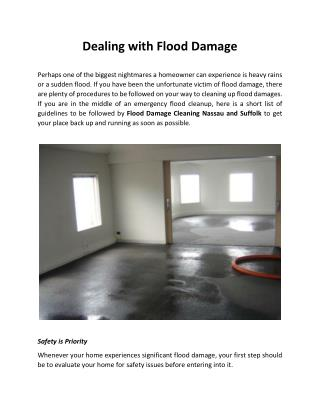 Dealing with Flood Damage