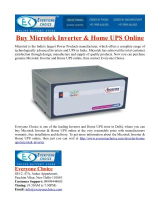 Buy Microtek Inverter & Home UPS Online