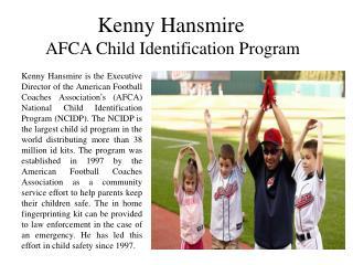 Kenny Hansmire AFCA Child Identification Program