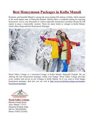 Best Honeymoon Packages in Kullu Manali