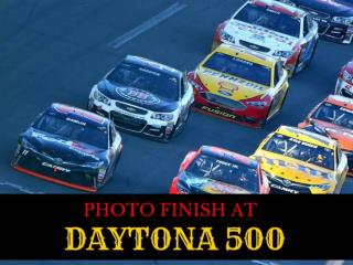 Photo finish at Daytona 500