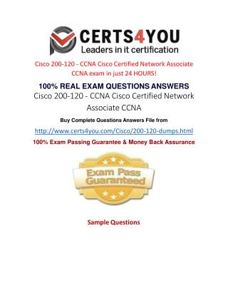 How to get latest exam qurestions of Cisco 200-120 exam?