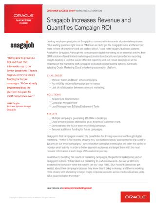 Snagajob customer success oracle