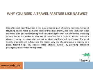 Special Packages Offered by Naswiz Holidays - Reviews and Complaints