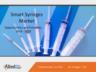 Smart Syringes Market Opportunities, Forecasts, 2014 - 2020