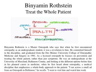 Binyamin Rothstein Treat the Whole Patient