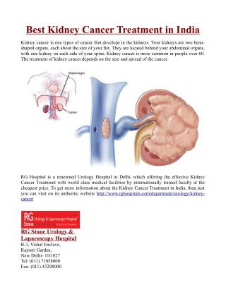 Best Kidney Cancer Treatment in India