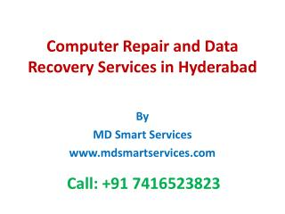 Computer & Laptop Repair Services in Hyderabad | Data Recovery Services in Hyderabad | Computer Neworking Companies in H