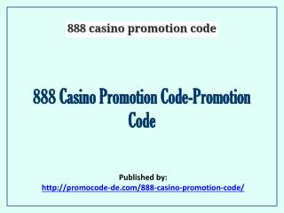 888 Casino Promotion Code-Promotion Code