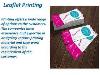 Leaflet Printing