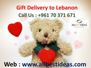 Gifts Delivery to Lebanon : 961 70 371 671
