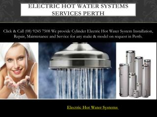 Electric Hot Water Systems Services Perth