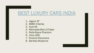 Find The Best Luxury Cars in India